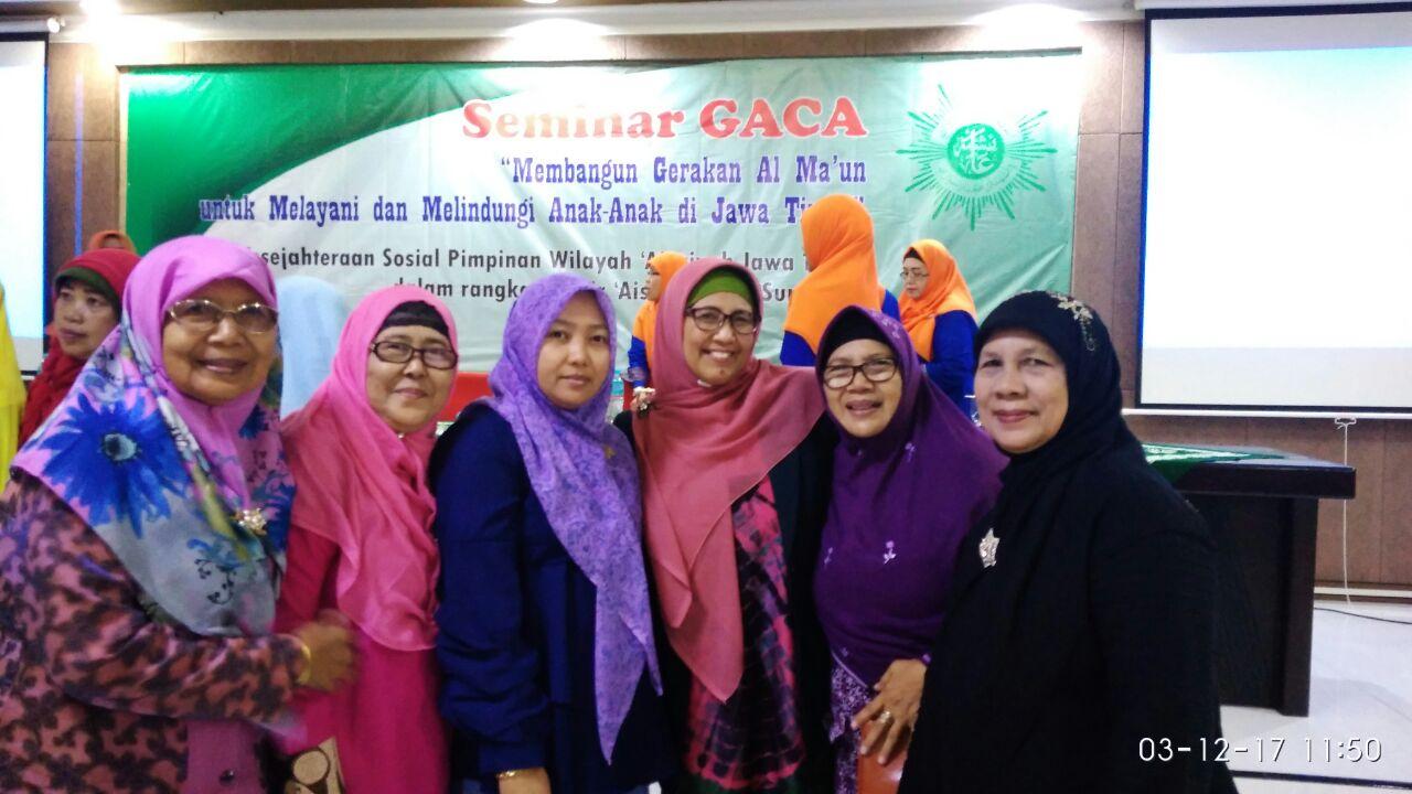 foto bareng acara seminar GACA di UMSIDA yang merupakan rangkaian acara sarasehan PWA
